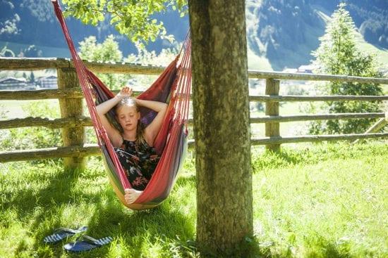 Hängematte am Reitbauernhof in Großarl, Salzburger Land –Urlaub am Bauernhof in Österreich