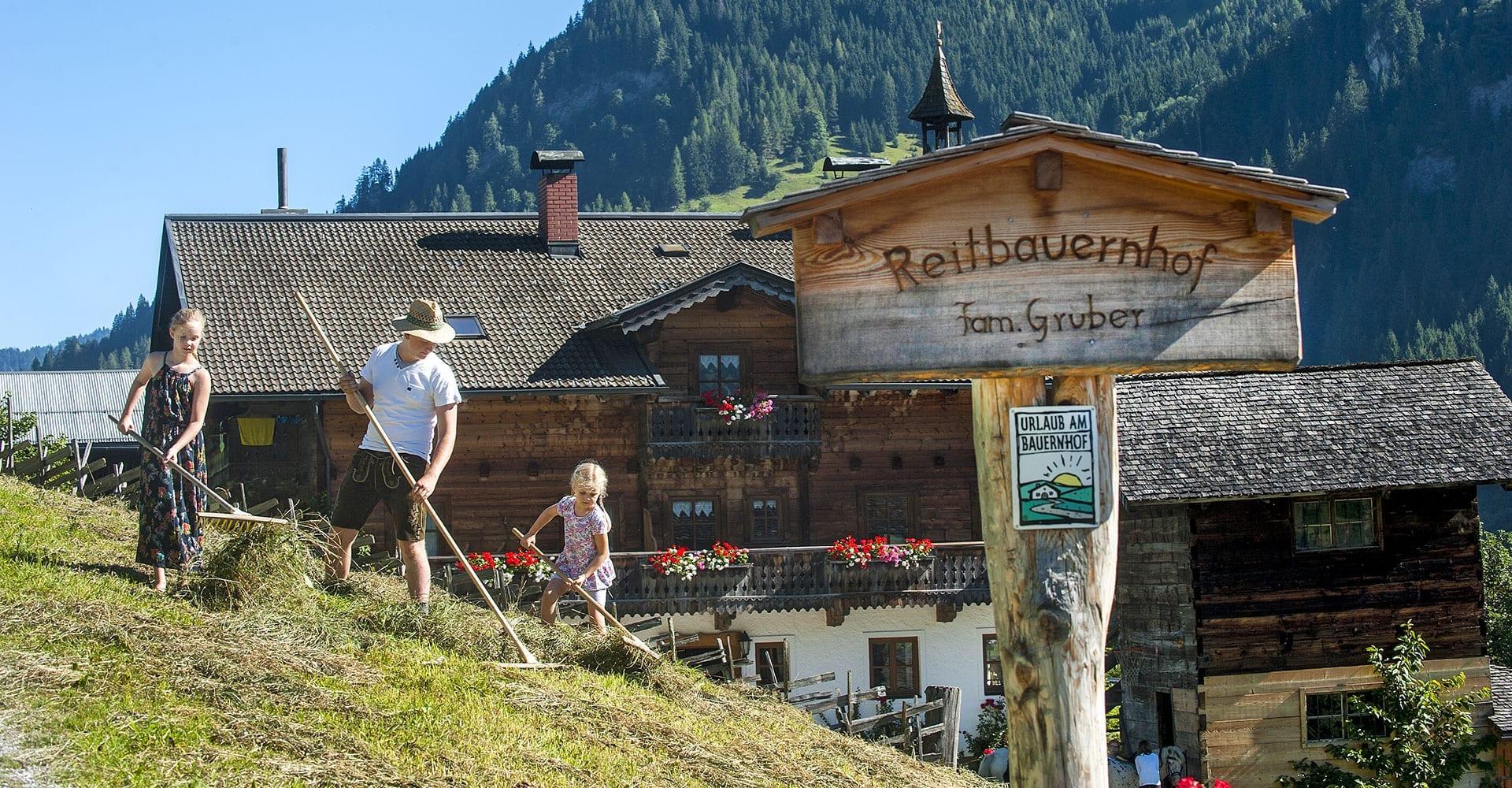 Urlaub am Bauernhof - Reitbauernhof in Großarl - Kontakt Familie Gruber